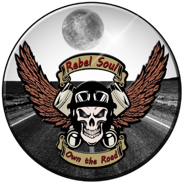 SKULL RIDER 4x4 Spare Wheel Cover DECAL STICKER